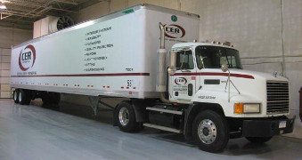 CER truck in warehouse.